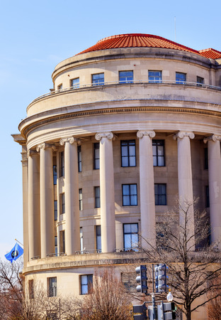 antitrust: US Federal Trade Commission FTC Flag in Washington DC
