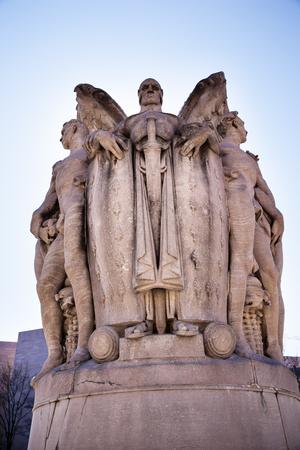 meade: Winged War God George Gordon Memorial Civil War Statue Pennsylvania Ave Washington DC Public Artwork