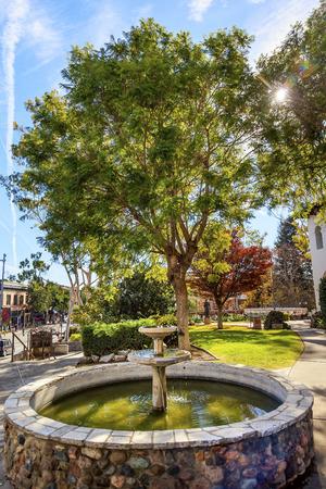luis: Mission San Luis Obispo de Tolosa Courtyard Fountain San Luis Obispo California.  Founded 1772 by  Father Junipero Serra.  Named for Saint Louis of Anjou Stock Photo