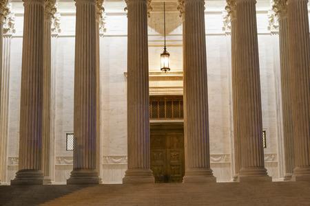 district of columbia: US Supreme Court Colums Door Washington DC Stock Photo