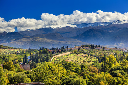 Alhambra Farm Mountains Granada Andalusia Spain Stock Photo