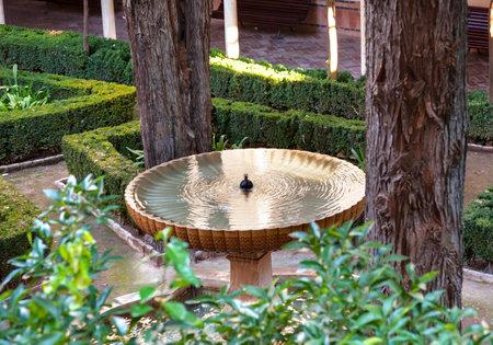 Alhambra  Garden Fountain Granada Andalusia Spain
