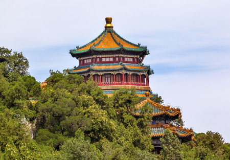 people's cultural palace: Longevity Hill Tower of the Fragrance of the Buddha Pagoda Summer Palace Beijing China