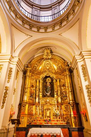 Basilica Dome Mary Baby Jesus Statue Santa Iglesia Collegiata de San Isidro Madrid Spain. Named after Patron Saint of Madrid, Saint Isidore, Church was created in 1651