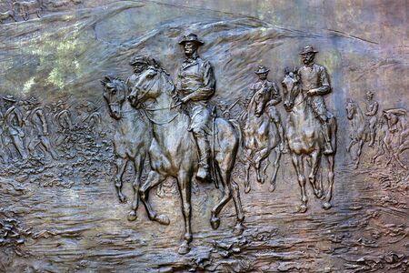 carl: General William Tecumseh Sherman Bronze Bas Relief Marching Through Georgia Civil War Memorial Pennsylvania Avenue Washington DC.  Statue dedicated 1903, artist Carl Rohl-Smith. Located in back of Treasury where President Andrew Johnson and Ulysses Grant