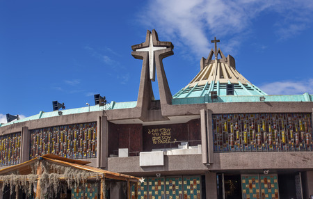 New Basilica Christmas Creche Shrine of the Guadalupe Mexico City Mexico.