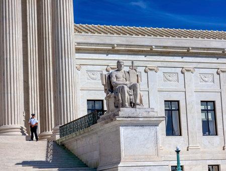 district of columbia: US Supreme Court Statue Capitol Hill Washington DC