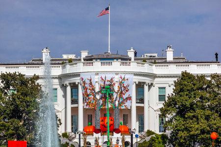 casa blanca: Ca�da de Halloween Decoraci�n Presidencial de la Casa Blanca Fuente Washington DC