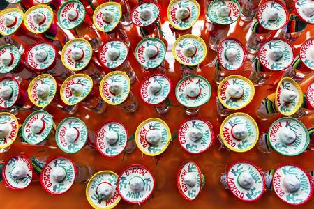 shot glasses: Colorful Souvenir Tequila Shot Glasses Hats Mexico City Mexico