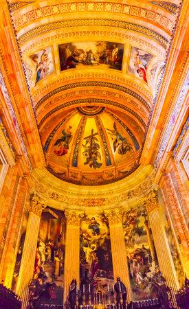 half dome: Dome Altar San Francisco el Grande Royal Basilica Madrid Spain. Basilica designed in the second half of 1700s completed by Francisco Sabatini. Editorial