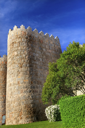 conquer: Walls Castle Avila Castile Spain.  Described as the most 16th century town in Spain.  Walls created in 1088 after Christians conquer and take the city from the Moors
