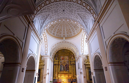 Convento de Santa Teresa Basilica Altar Dome Avila Castile Spain.  Convent founded in 1636 for Saint Teresa, Catholic nun, Counterreformation author, and Spanish mystic, who founded the Carmelite order. Died in 1582 and made a saint in 1614. Editorial