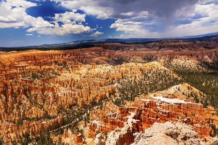 storm coming: Storm Coming Amphitheater Hoodoos Bryce Point Bryce Canyon National Park Utah