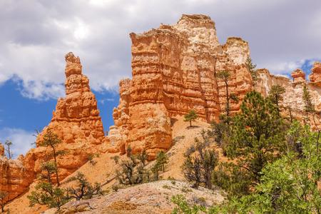 fairyland: Hoodoos Fairyland Bryce Canyon National Park Utah Stock Photo