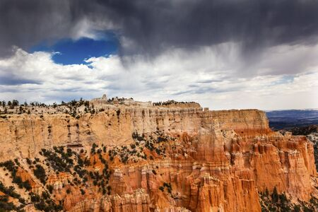 hoodoos: Rainy Storm Hoodoos Bryce Point Bryce Canyon National Park Utah Stock Photo