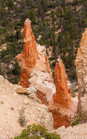hoodoos: Sharp Pointed Hoodoos Bryce Point Bryce Canyon National Park Utah