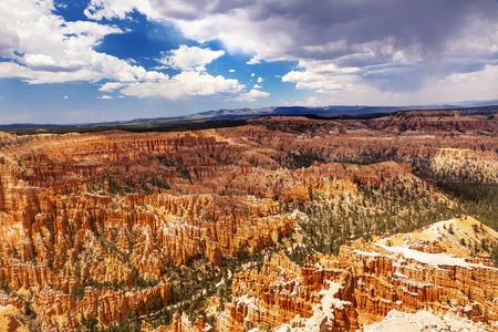 hoodoos: Amphitheater Hoodoos Inspiration Point Bryce Canyon National Park Utah
