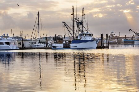 Large Fishing Boat Westport Grays Harbor Puget Sound Washington State Pacific Northwest