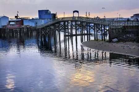 puget sound: Wooden Bridge Fish Factory Westport Grays Harbor Puget Sound Washington State Pacific Northwest