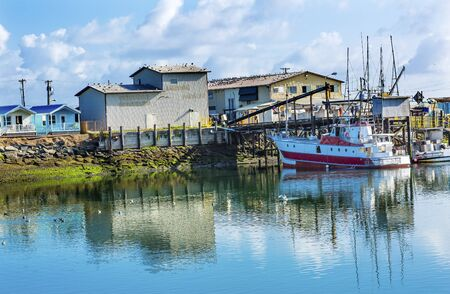 puget sound: Processor Fishing Boat Westport Grays Harbor Puget Sound Washington State Pacific Northwest Stock Photo