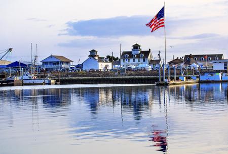 moored: Maritime Museum Flag Westport Grays Harbor Puget Sound Washington State Pacific Northwest