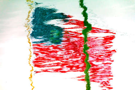grays: American Flag Reflection Abstract Westport Grays Harbor County Puget Sound Washington State Pacific Northwest