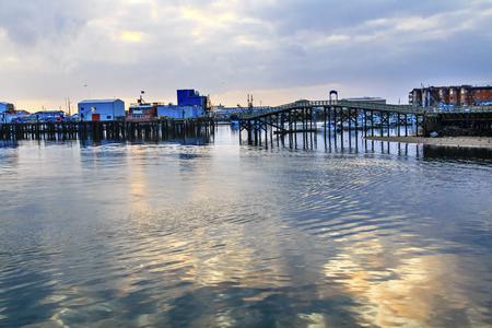 grays: Wooden Bridge Fish Factory Westport Grays Harbor Puget Sound Washington State Pacific Northwest