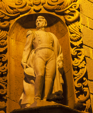 ignacio: Ignacio Allende Statue Allende House San Miguel de Allende Mexico.  Allende led the Mexican War of Independence in 1810 against the Spanish authorities.