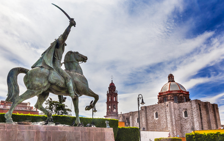 ignacio: General Ignacio Allende Statue Plaza Civica San Miguel de Allende Mexico. Iglesia De Nuestra Senora De La Salud Church General who first led revolt against Spain in 1810 and considered a hero of the Mexican War of Independence