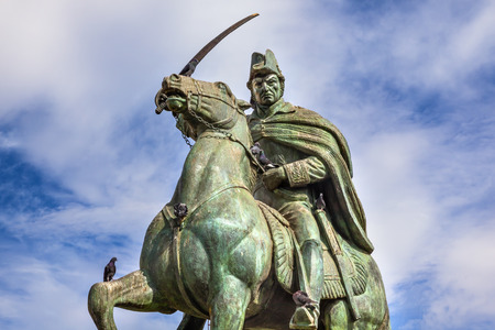 ignacio: General Ignacio Allende Statue Plaza Civica San Miguel de Allende Mexico. General who first led revolt against Spain in 1810 and considered a hero of the Mexican War of Independence