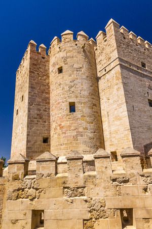 1st century: Ancient Calahorra Tower Roman Bridge Cordoba Spain  Roman bridge was built in the 1st Century BC.