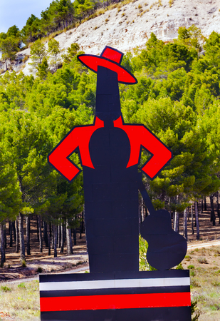 Famous Tio Pepe Sherry Adverising Sign Cordoba Spain.  Guitar flamenco player Famous advertising seen throughout Spain