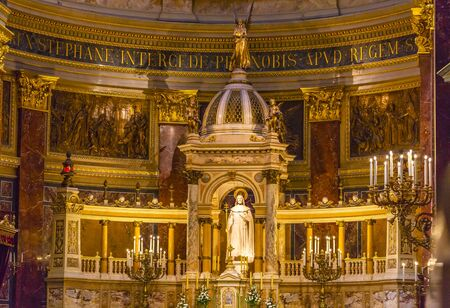 hungarian: Altar Basilica Saint Stephens Cathedral Budapest Hungary.  Saint Stephens named after King Stephens who brought Christianity to Hungary.  Cathedral built in the 1800s and consecrated in 1905.
