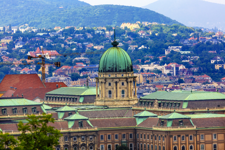 empress: Buda Castle Budapest Hungary.  Buda Castle was first built in 1242 and enlarged by Empress Maria Theresa in the 1700s.