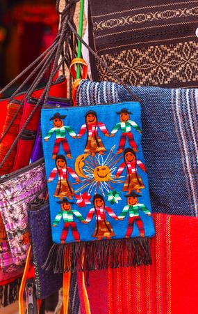 peasant: Colorful Souvenir Mexican Peasant Blankets San Miguel de Allende Mexico Stock Photo