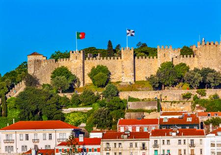 Castle Castelo de Sao Jorge Belevedere Miradoura de Sao Pedro de Alcantara Outlook Lisbon Portugal