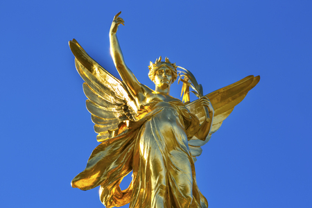 craftmanship: Winged Victory Victoria Memorial Buckingham Palace Westminster London England.  Victoria Memorial by Thomas Brock created 1911.