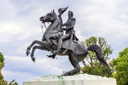 Andrew Jackson Statue Presidents Park Lafayette Square Washington DC Created in 1850 Clark Mills Sculptor