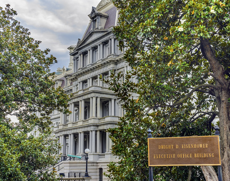 Old Executive Office Building Dwight Eisenhower Building, Vice Presidents Office Washington DC.  Located next to White House, built from 1871 to 1888