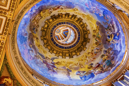 Small Dome Saint Peters Basilica Vatican Rome Italy.  Built in 1600s