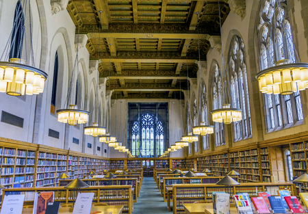 Goldman Law Library Yale University New Haven Connecticut. Completed in 1931 and very large law library. Stock Photo - 84031475