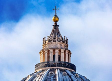Saint Peters Basilica Michelangelo Dome Cross Vatican Front