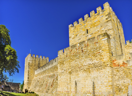 Castle Fort  Castelo de San Jorge Lisbon Portugal.  Recaptured Lisbon in 1147 and King Alfonso turned the hilltop into a Castle and Palace