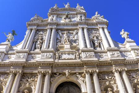 Santa Maria Giglio Zobenigo Church Baroque Facade Venice Italy. Founded in the 9th Century Rebuilt in 1600s.