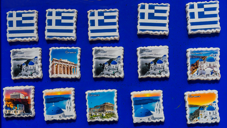 Greek Ceramic Designs Greek Flags Locations Magnets Parthenon Athens Greece
