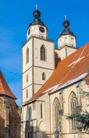 Saint Mary's City Church Stadtkirche Lutherstadt Wittenberg Germany. Martin Luther's church. Founded in 1187, restored in 1900s.