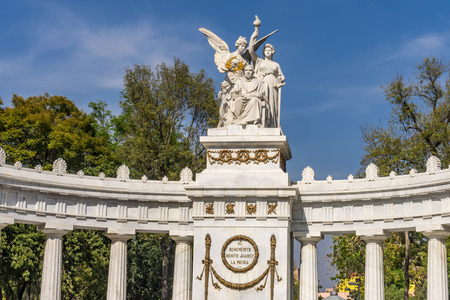 President Benito Juarez Hemicyle Monument Mexico City Mexico. Juarez is the Abraham Lincoln of Mexico.  Built in 1910