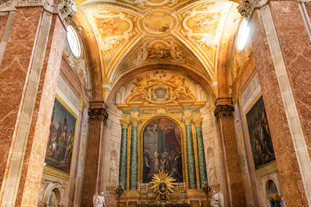 Basilica Saint Mary Angels and Martyrs Rome Italy. Church designed by Michelangelo 1560 from Emperor Diocletian Baths