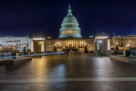 US Capitol North Side Congress House Representatives Construction Senate Capital City Night Stars Washington DC
