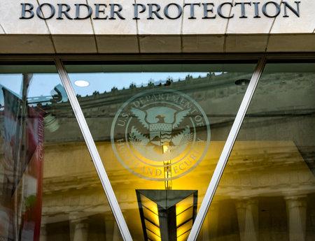 US Customs and Border Protection US Department of Homeland Security Symbol Ronald Reagan International Trade Building Washington DC